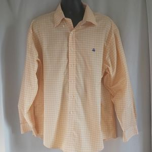BROOKS BROTHERS 346 Yellow Plaid Button Down Shirt